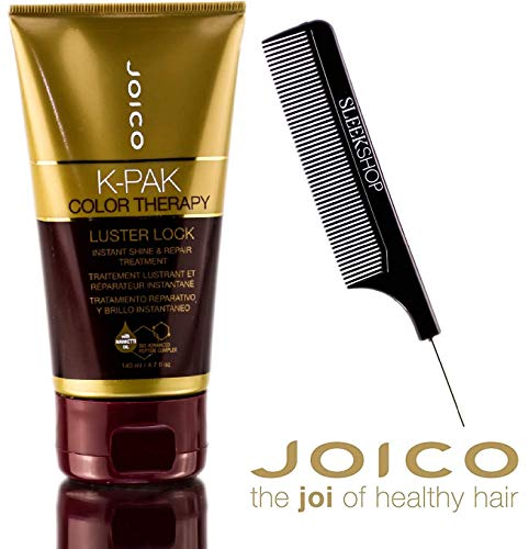 Joico K-Pak Color Therapy LUSTER LOCK - Instant Shine & Repair Treatment (with Sleek Steel Pin Tail Comb) (4.7 oz - ORIGINAL SIZE)