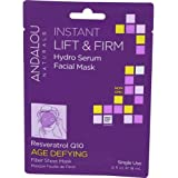 Andalou Naturals Instant Lift and Firm Hydro Serum Facial Mask, 0.6 Fluid Ounce - 6 per case.
