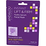 Facial Mask Yeast - Andalou Naturals Instant Lift and Firm Hydro Serum Facial Mask, 0.6 Fluid Ounce - 6 per case.