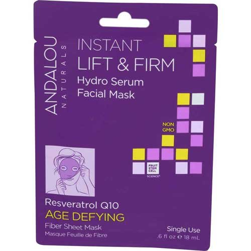 Andalou Naturals Instant Lift and Firm Hydro Serum Facial Mask, 0.6 Fluid Ounce -- 6 per case.