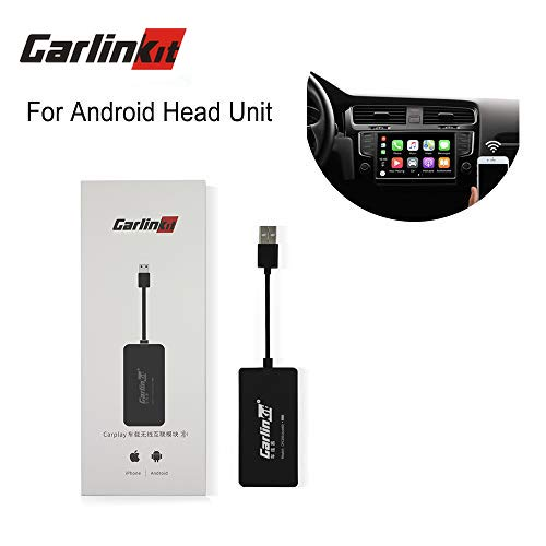 Carlinkit Wireless USB iOS Mini Carplay Dongle Boxkit Android Auto Mirroring Interface Receiver for Android Head Unit Upgrade Plug and Play