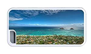 Hipster iPhone 5C silicone cover lanikai beach kailua hawaii TPU White for Apple iPhone 5C