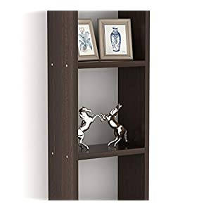 Bluewud Walten Engineered Wood Wall Mount Book Shelf / Display Rack