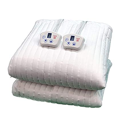 Image of Home and Kitchen Electrowarmth M76Fld King Two Controls Heated Mattress Pad, Std King 76-Inch by 80-Inch