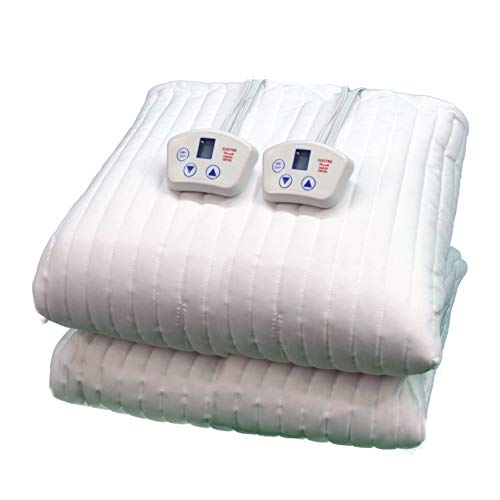 Electrowarmth M76Fld King Two Controls Heated Mattress Pad, Std King 76-Inch by 80-Inch