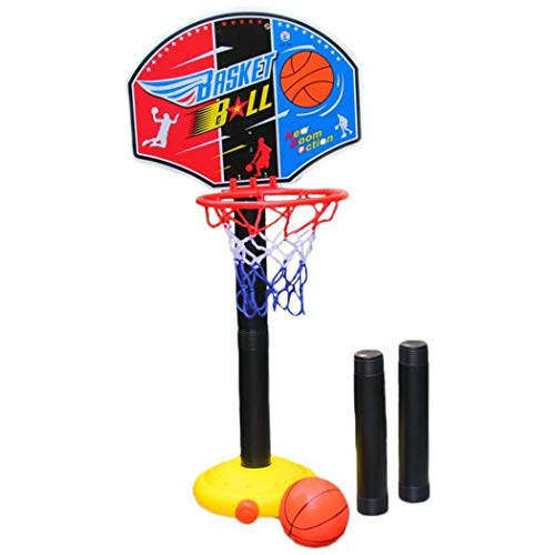Qenci Basketball Toy Set Portable Indoor Outdoor Kids Adjustable Height Basketball Stand Toy Set