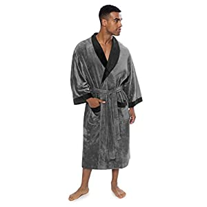 Men's Terry Cloth Bath Robe - Comfortable Gift for Him by Texere (Turilano)