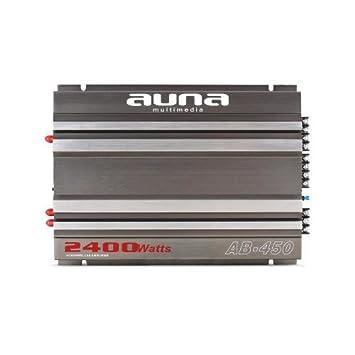 Auna AB-450 - amplificadores para coche (Gris, 50-250 Hz)