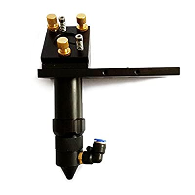 """CO2 Laser Cutting Head with Air Assist and Laser Dot Frame for Installing Dia 20mm Lens and Dia 25mm / 1"""" Mirror by Sign-in-China"""