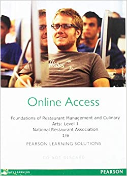 Foundations of Restaurant Management & Culinary Arts Level 1, Coursesmart for Pearson School Standalone Access Code Card