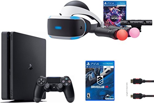 PlayStation VR Launch Bundle 3 Items:VR Launch Bundle,PlayStation 4 Slim 1TB, VR Game Disc PSVR DriveClub by Sony VR
