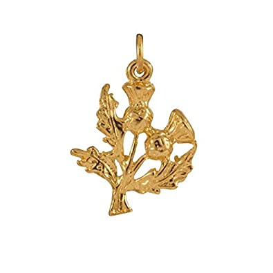 Sayers London 9ct Gold Thistle Charm OesUo