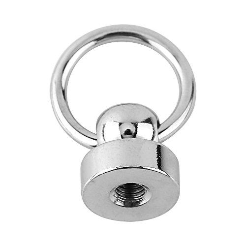 rotonda Head nbsp;mm telefono per O mestieri Button Screwback del Silver Stud ring 9 copertura testa Decor in pelle borchie 10PCS Argento DIY PYqnxtU5I