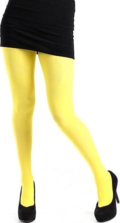 Pamela Mann - Collant grande taille jaune - 4 (44-46)  Amazon.fr ... 3be76eba315