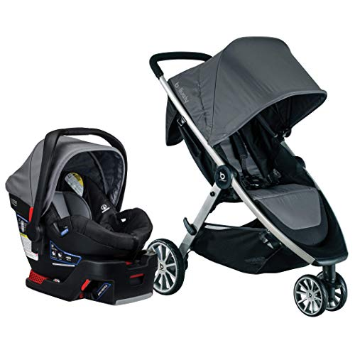 BRITAX B-Lively Travel System with B-Safe 35 Infant Car Seat | One Hand Fold XL Storage Ventilated Canopy, Dove…