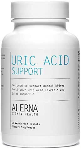 Alerna Kidney Health: Uric Acid Support with Tart Cherry, Celetry Extract, Tumeric, Quercetin, and More to Support Normal Kidney Function & Uric Acid Levels - (1 Bottle)