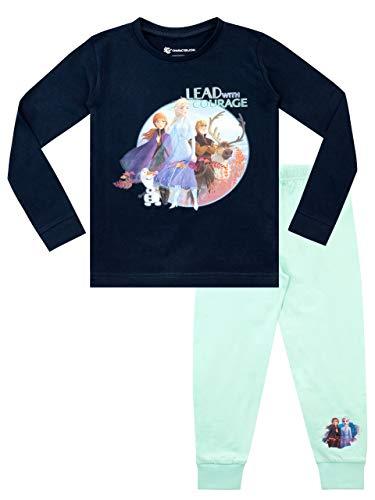 Disney Girls Frozen Pajamas Multicolored Size 5 (Frozen Pjs 5t)