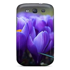Tpu Shockproof/dirt-proof Nature Crocus Cover Case For Galaxy(s3)