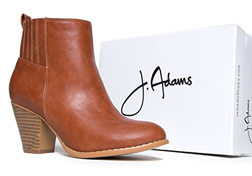 J. Adams - Bottines En Daim À Talons Hauts - Slip Sur Talon Empilé - Chaussures De Marche Confortables - Keni By Tan Pu