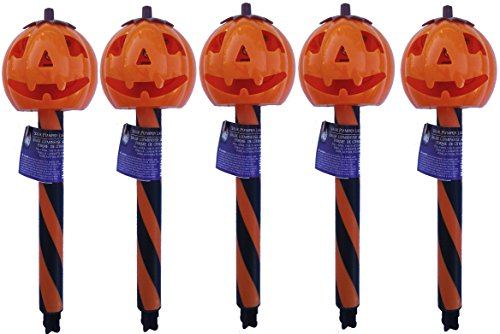 Solar Halloween Pumpkin Stake Light product image