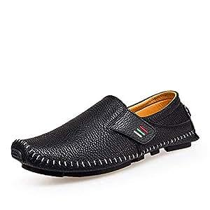 Eeayyygch Otoño Negocios Zapatos Casuales Cuero para Hombres Zapatos para Caminar Cuero Guisantes Zapatos Cuero (
