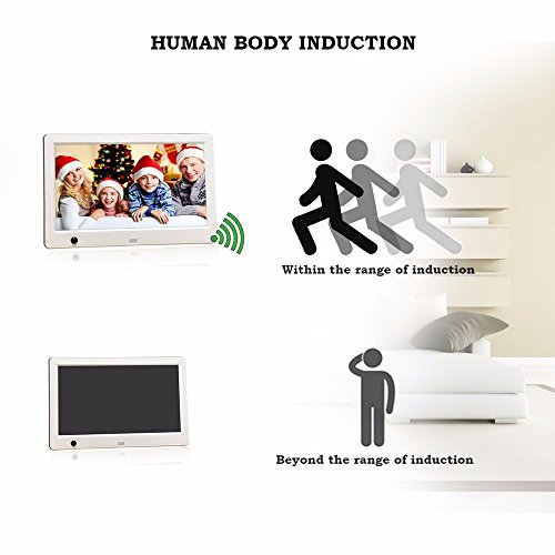 Sonmer 10inch High Definition Ultra-thin Digital Photo Frame,Human Body Induction,With Remote Control by Sonmer (Image #1)