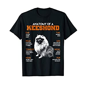 Anatomy Of A Keeshond Dogs T Shirt Funny Gift 33