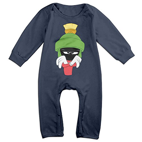 [NCACA Newborn Babys Boy's & Girl's Marvin The Martian Long Sleeve Baby Climbing Clothes For 6-24 Months Navy Size 24] (Baby Golfer Costume)