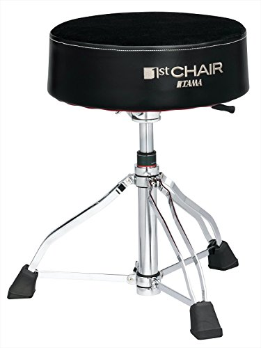 Tama 1st Chair Round Rider XL Drum Throne Hydraulix Cloth Top Black