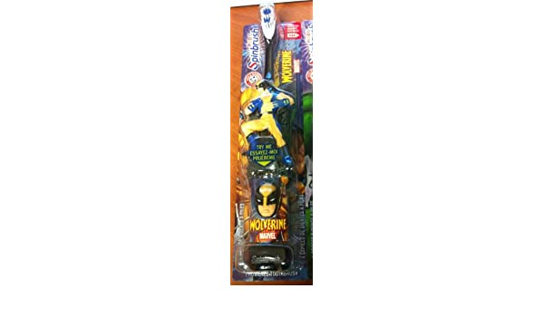 Amazon.com: marvel wolverine BATTERY OPERATED SPINBRUSH (ACTION FIGURE ACCESSORIES): Beauty