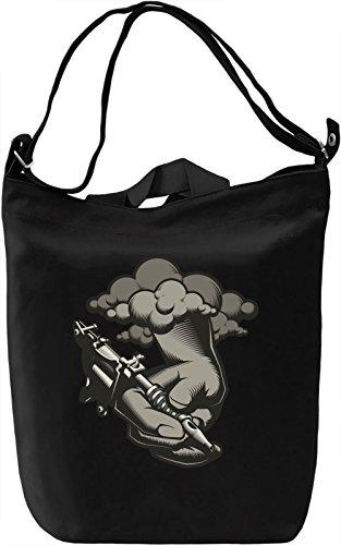 Tattoo artist hand Borsa Giornaliera Canvas Canvas Day Bag| 100% Premium Cotton Canvas| DTG Printing|