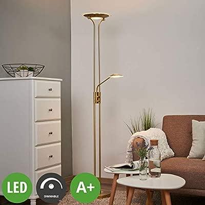 LED Lámpara de pie Aras en Dorado hecho de Metal e.o. para ...