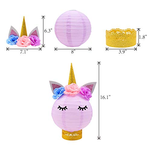 Unicorn Party Decorations Unicorn Table Centerpieces Paper Lanterns