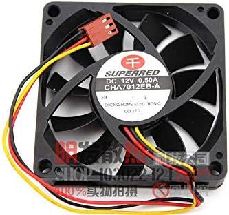 Original CHA7012EB-A 7CM 7015 12V 0.50A three-wire CPU cooling fan