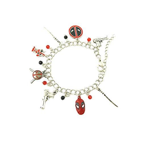Athena Brands Deadpool X-Men Theme Charm Bracelet Quality