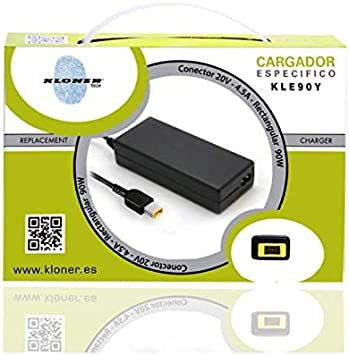 Kloner KLE90Y Interior 90W Negro Adaptador e inversor de Corriente - Fuente de alimentación (100-240, 90 W, 4,5 A, Interior, Portátil, CA a CC): Amazon.es: Informática