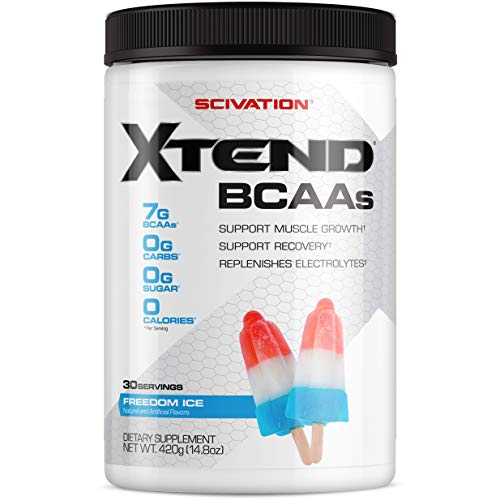 Scivation Xtend BCAA Powder, Branched Chain Amino Acids, BCAAs, Freedom Ice, 30 Servings