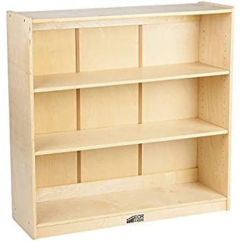 "ECR4Kids Birch Hardwood School Bookcase, Adjustable Shelves, Natural, 36"" H"