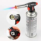 Kitchen Culinary Blow Torch Head, Chef Cooking Butane Torch, Adjustable Flame Lighter