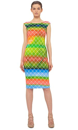 akris-punto-baseball-net-print-knit-sheath-dress-green-multi-size-4