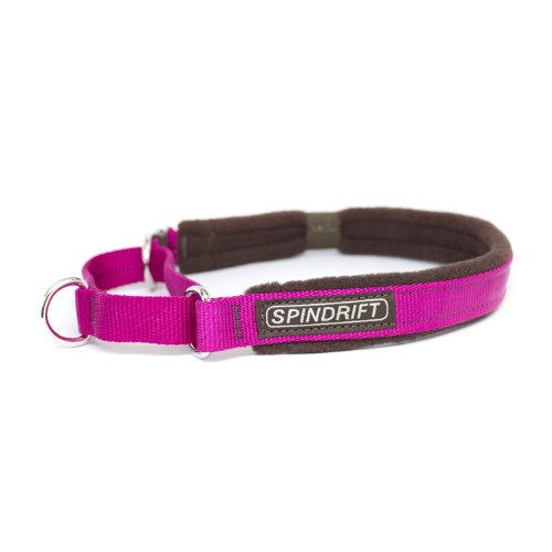 "Spindrift 316 Cozy Martingale Dog Training Collar - Medium (3/4"" x 14-19""), Fuschia"