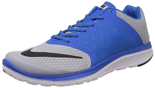 Nike FS Lite Run 3, Scarpe da Corsa Uomo Multicolore (Gris / Negro / Azul / Blanco (Wolf Grey/Black-soar-white))