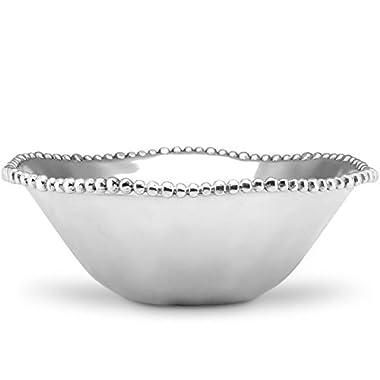 Lenox Organics Bead Round Bowl, Silver