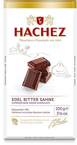 Hachez Edel Tafel - Edel Bitter-Sahne, 5er Pack (5 x 100 g)