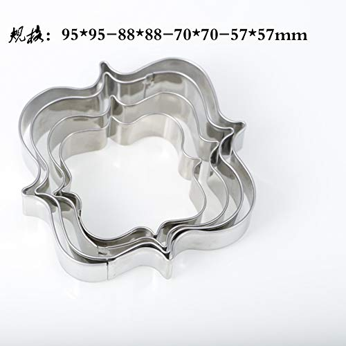 (Biscuit Cutter set - 4pcs/set european wedding frame metal cookie cutters biscuits stainless steel s kitchen baking mould e650)
