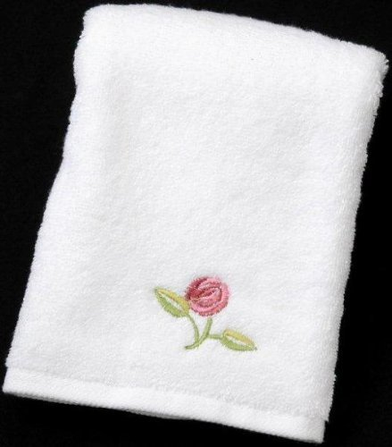 Pair of Guest Towels in a Rennie Mack Pink Rose Design by Justina Claire