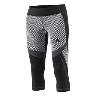adidas Women's Training Designed 2 Move Mid-Rise 3/4 Tights, Black/Print, XX-Large