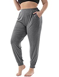 Women's Plus Size Casual Stretchy Relaxed Long Lounge...