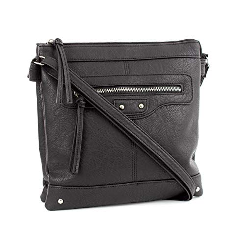 Detail Handbag Zone Black Black Zip E78gRq8