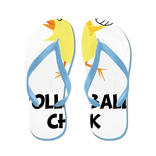 CafePress Volleyball Chick Black - Flip Flops, Funny Thong Sandals, Beach Sandals Caribbean Blue